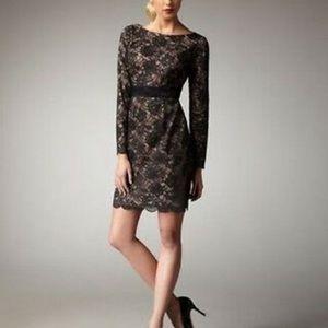Trina Turk Black Lace Overlay Dress